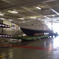 boat inside the vessel