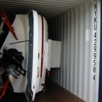 boat on a side in container